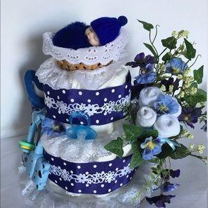 🌸SOLD🌸Diaper Cake.Baby Shower.